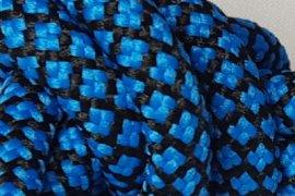 Czarna siatka niebieskie kwadraciki